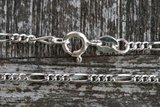 Zilveren enkelketting figaro_