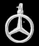 Zilveren Mercedes ster ketting hanger_