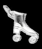 Zilveren Rollerskate ketting hanger_