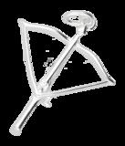 Zilveren Kruisboog ketting hanger_