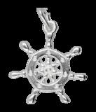 Zilveren Stuurrad ketting hanger_