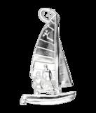 Zilveren Catamaran ketting hanger_