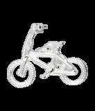 Zilveren Crossfiets ketting hanger_