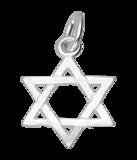 Zilveren David ster ketting hanger_