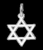 Zilveren Davidster ketting hanger_