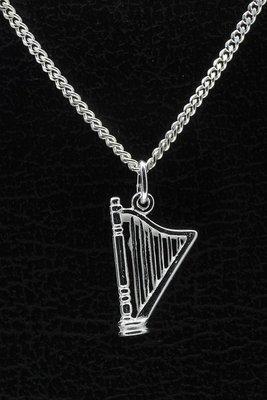 Zilveren Harp ketting hanger
