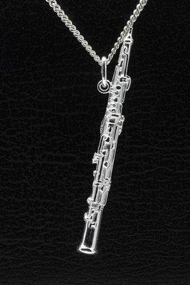 Zilveren Hobo ketting hanger