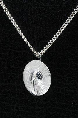 Zilveren Bekken ketting hanger