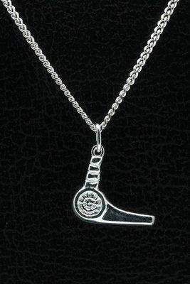 Zilveren Föhn ketting hanger