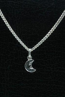 Zilveren Maan ketting hanger
