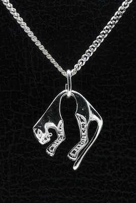 Zilveren Panter ketting hanger - licht