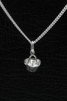Zilveren Emmertje ketting hanger
