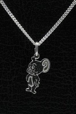 Zilveren Jerry ketting hanger