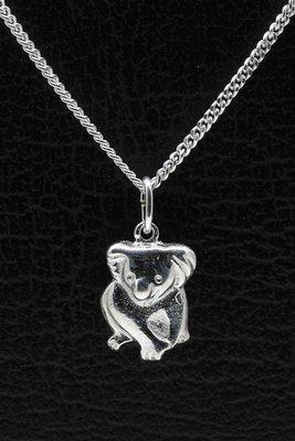 Zilveren Koala beer ketting hanger