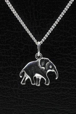 Zilveren Olifant ketting hanger