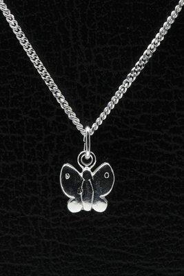 Zilveren Vlinder ketting hanger