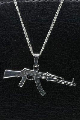 Zilveren Machinegeweer hanger