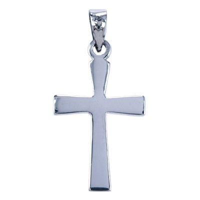 Zilveren Kruis hanger - glad