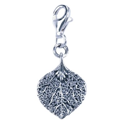 Zilveren Bodhi boom blad bedel