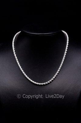 """Zilveren halsketting """"Koord"""" - 42/45cm"""