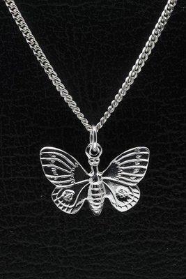 Zilveren Vlinder ketting hanger - 3