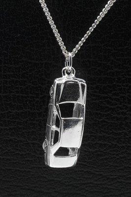 Zilveren Mercedes ketting hanger - groot