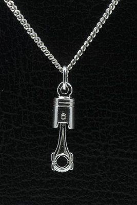 Zilveren Zuiger ketting hanger