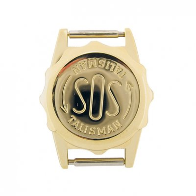 Vergulde SOS Talisman horloge - 18mm