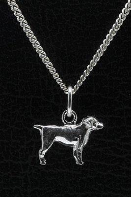 Zilveren Entlebucher sennenhond ketting hanger - klein