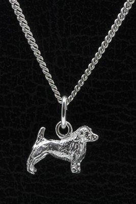 Zilveren Glen of imaal terrier ketting hanger - klein