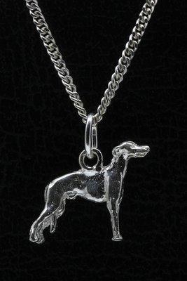 Zilveren Greyhound ketting hanger - klein