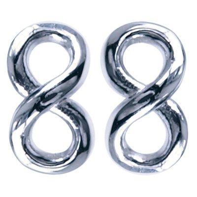 Zilveren Lemniscaat Infinity symbool oorknop oorsteker