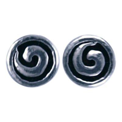 Zilveren Spiraal symbool oorknop oorsteker