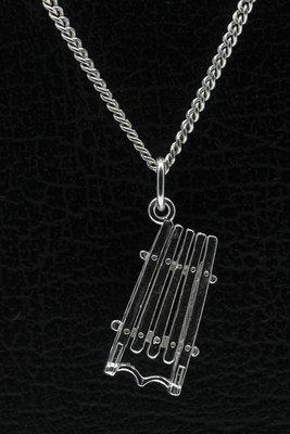 Zilveren Slee ketting hanger - 2