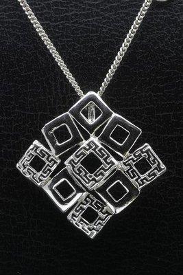 Zilveren Mooye - Carré ketting hanger