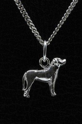Zilveren Zwitserse sennenhond ketting hanger - klein