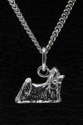 Zilveren Maltezer ketting hanger - klein
