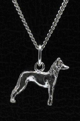 Zilveren Mexikaanse naakthond ketting hanger - klein