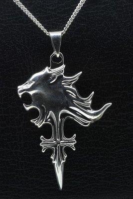 Zilveren Weerwolf ketting hanger
