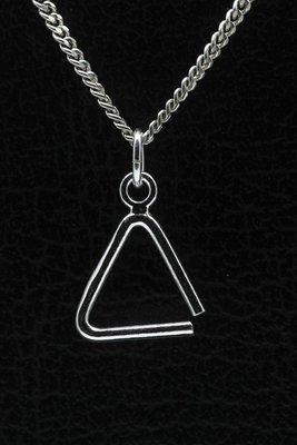 Zilveren Triangel ketting hanger