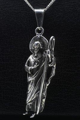 Zilveren Judas XL ketting hanger