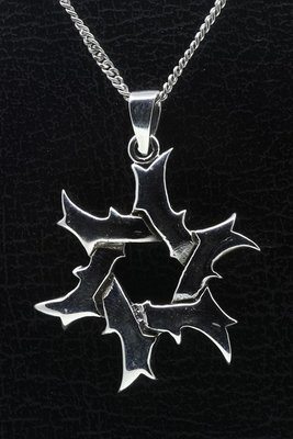 Zilveren Tribal 3 ketting hanger