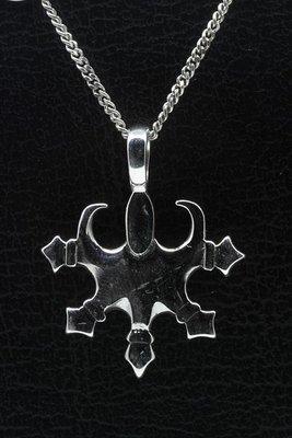 Zilveren Tribal 6 ketting hanger