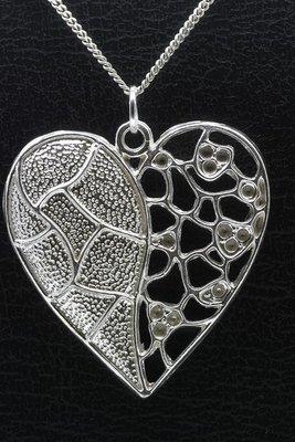 Zilveren Mooye - Hart ketting hanger