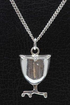 Zilveren Pauk ketting hanger