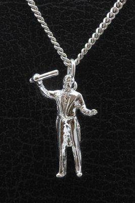 Zilveren Dirigent ketting hanger