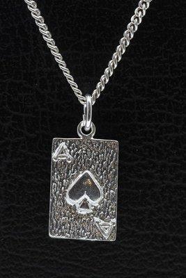 Zilveren Schoppen Aas ketting hanger
