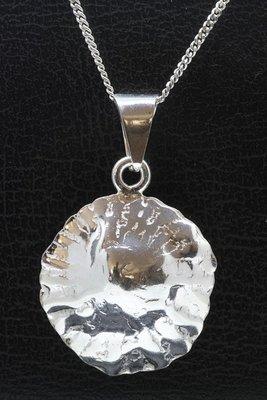 Zilveren Schaalhoorn ketting hanger
