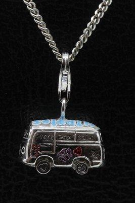 Zilveren Hippie bus hanger en/of bedel