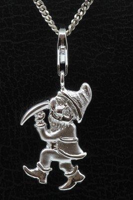 Zilveren Dwerg met pikhouweel hanger en/of bedel
